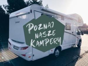 Zdjęcie kampera z podpisem Poznaj nasze kampery